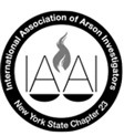 IAAI logo, International Association of Arson Investigators, New York State Chapter 23